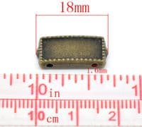 Antique Bronze Rectangle Connector Beads (pack of 5)